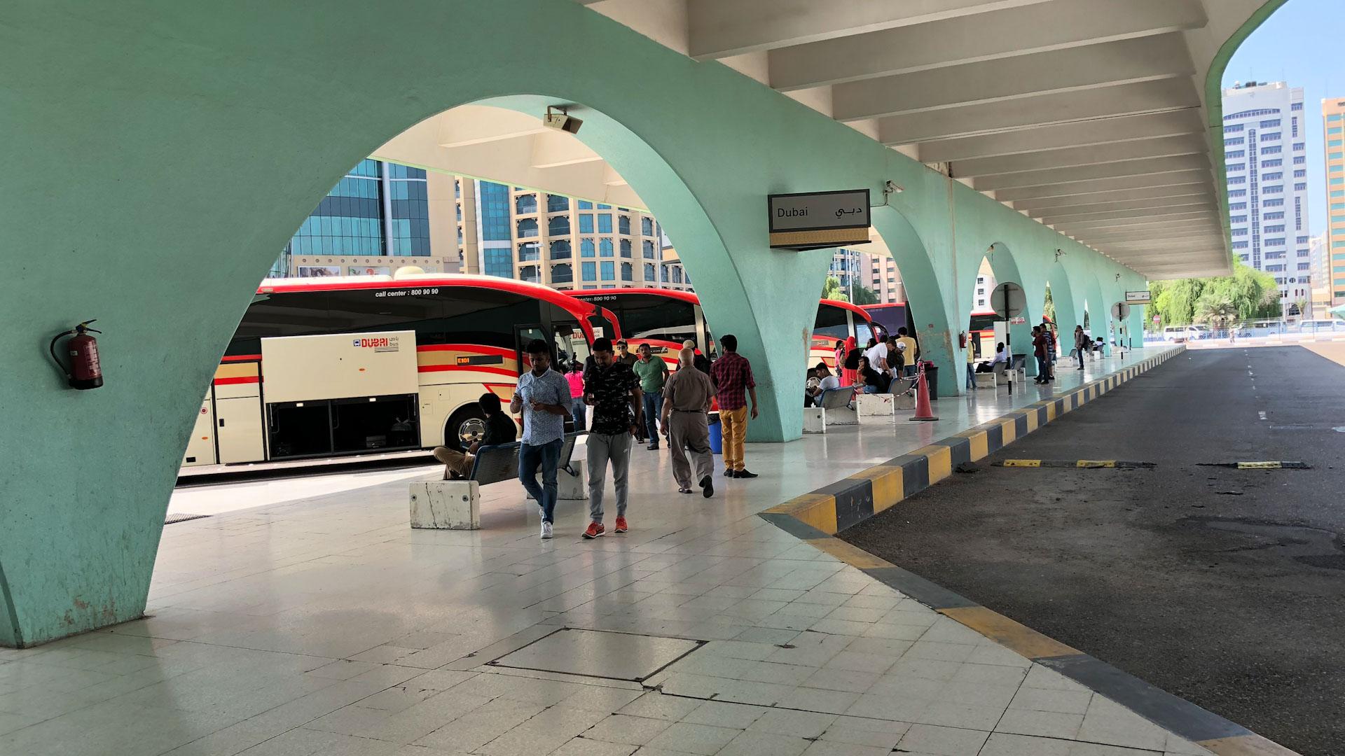 Abu Dhabi Main Bus Terminal - Dubai Departure Area
