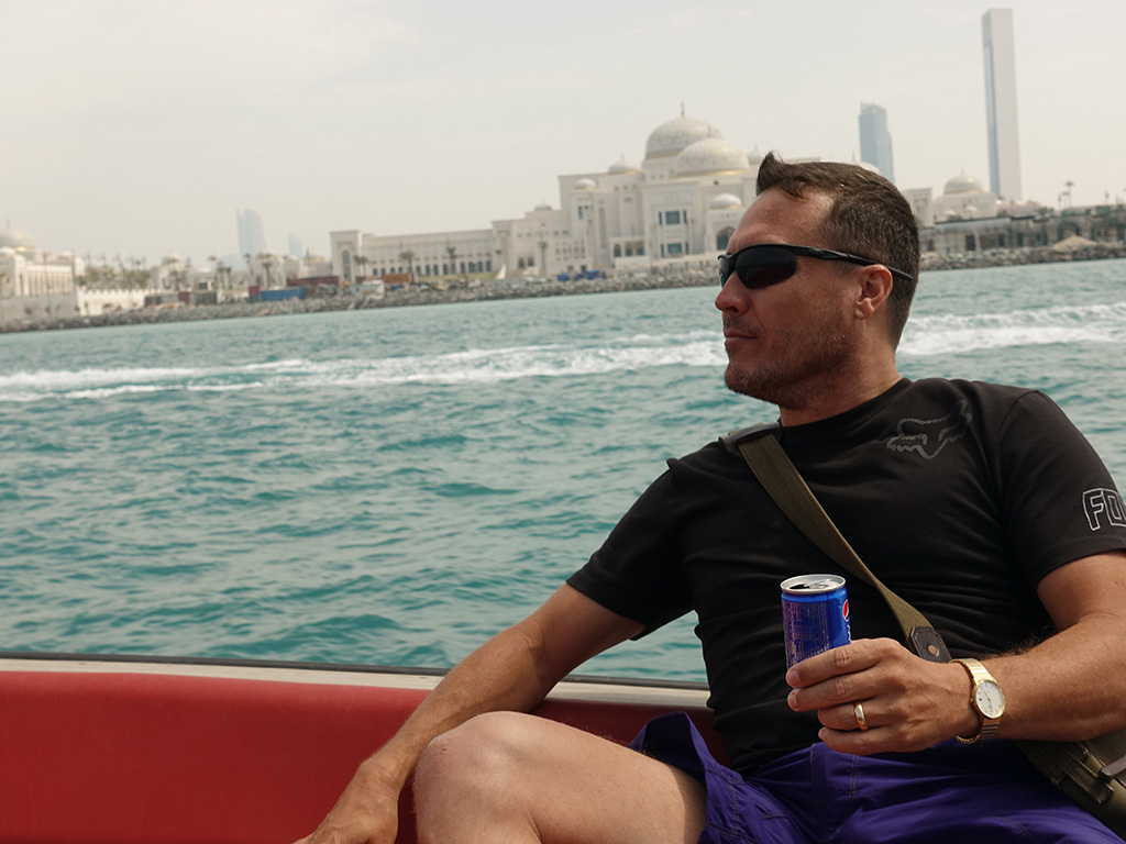Abu Dhabi - Presidential Palace - View from Water