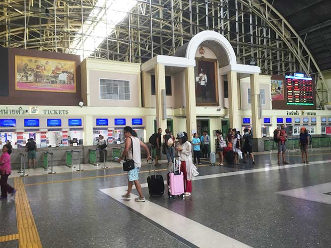 Bangkok Train Station Thailand Ticketing