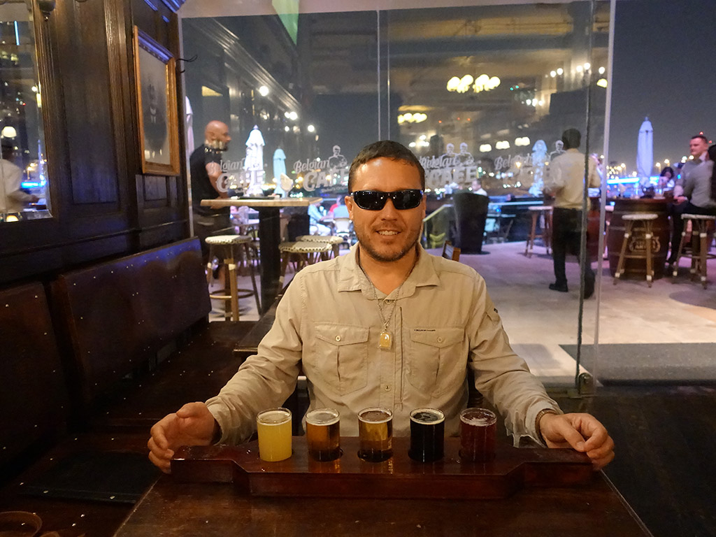 Best Hotel in Dubai Intercontinental Dubai Festival City Review Belgian Cafe Beer Sampler Sony RX100 V