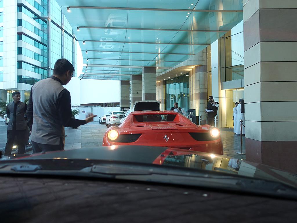 Best Hotel in Dubai Intercontinental Dubai Festival City Review Check In Valet Ferrari Sony RX100 V