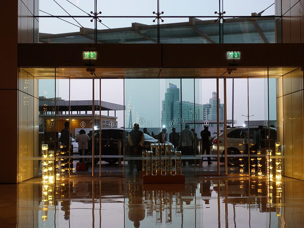 Best Hotel in Dubai Intercontinental Dubai Festival City Review Entrance to Lobby Sony RX100 V