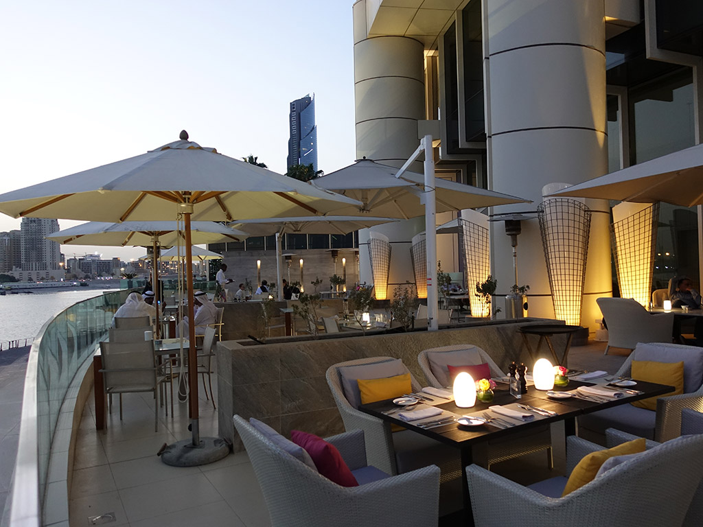 Best Hotel in Dubai Intercontinental Dubai Festival City Review Outside Patio Seating Area Sony RX100 V