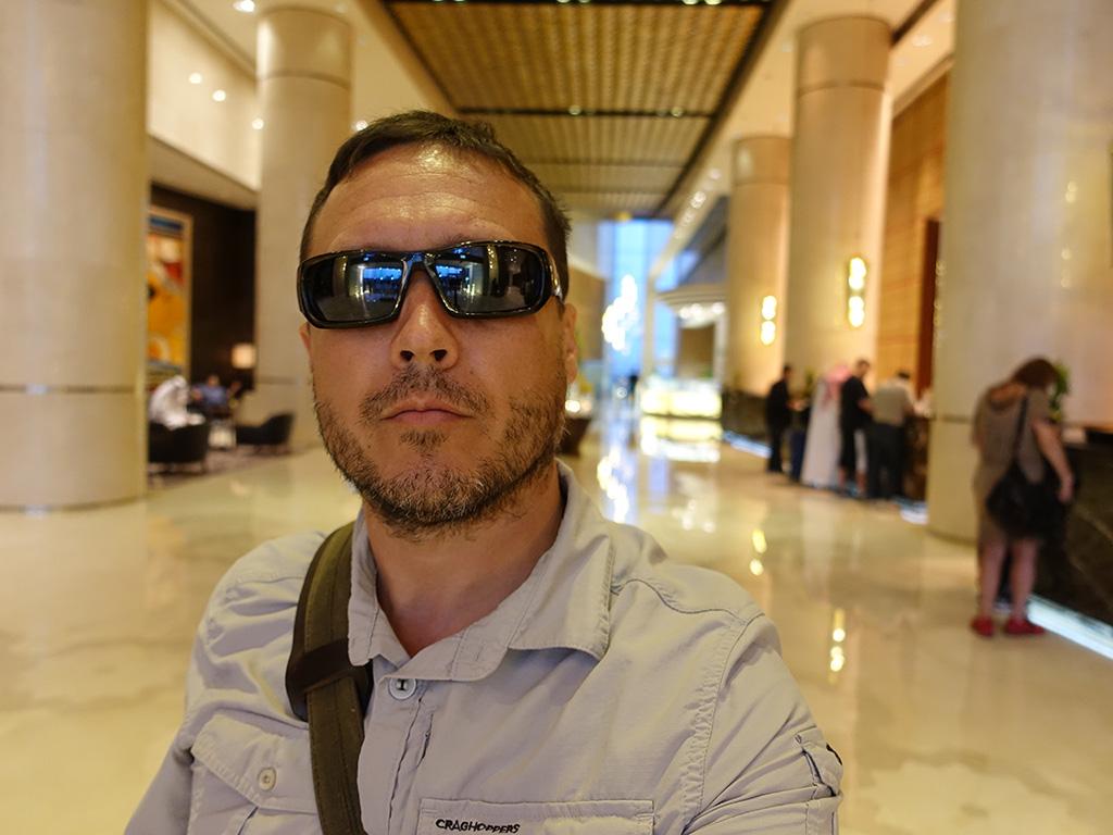 Best Hotel in Dubai Intercontinental Dubai Festival City Review Selfie Lobby Sony RX100 V
