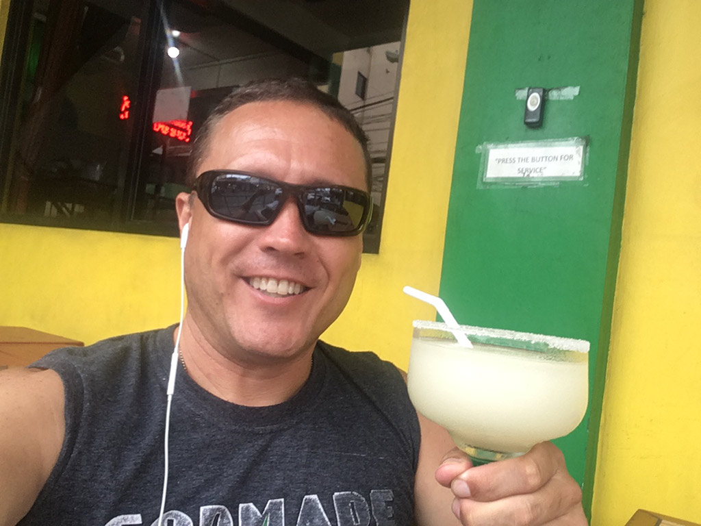 Best Place to Eat in Angeles City Philippines Tequila Reef Cantina Bar and Restaurant - Drinking a Frozen Margarita