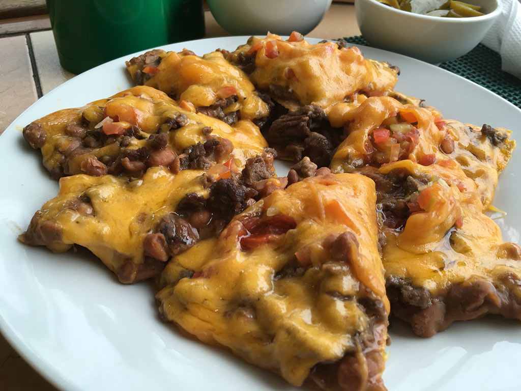 Best Place to Eat in Angeles City Philippines Tequila Reef Cantina Bar and Restaurant - Nachos Grande Shredded Beef