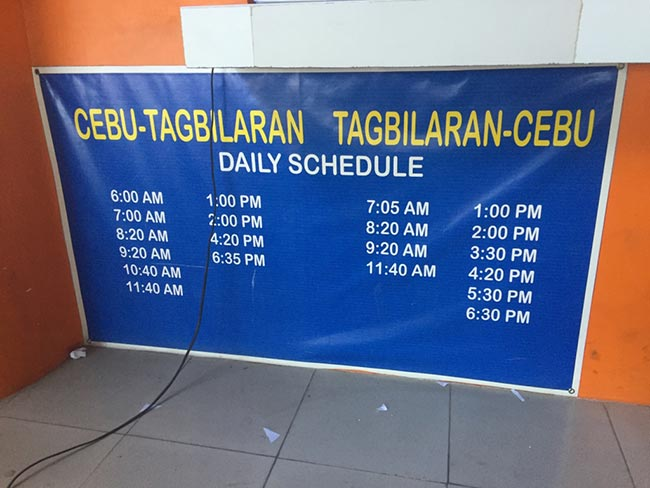 Cebu to Tagbilaran Oceanjet Ferry Schedule & Times - Philippines