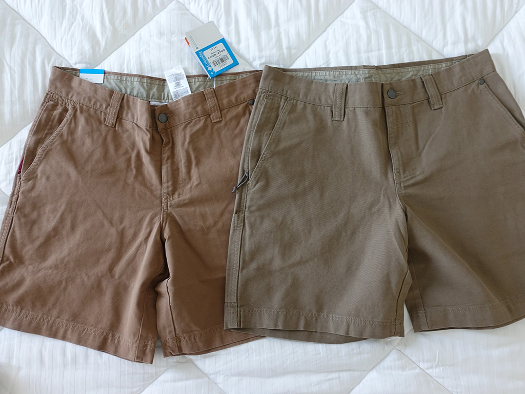 Columbia Roc II Shorts Delta Flax Color Comparison 8 Inch Front View Best Travel Clothing