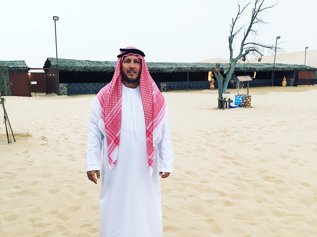 Desert Safari Tour Abu Dhabi Dubai UAE Photo in Local Clothing