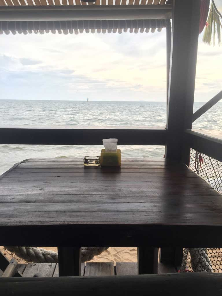 Drifters Cafe - Pattaya, Thailand - Right on the Beach