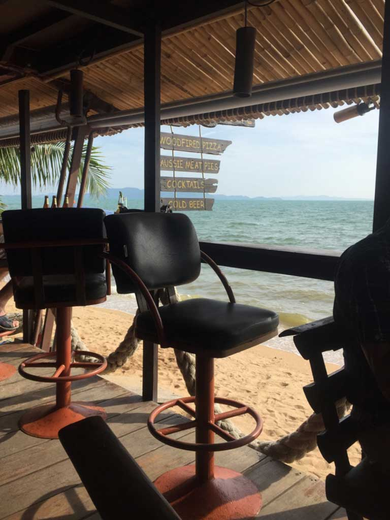 Drifters Cafe - Pattaya, Thailand - View of Beach