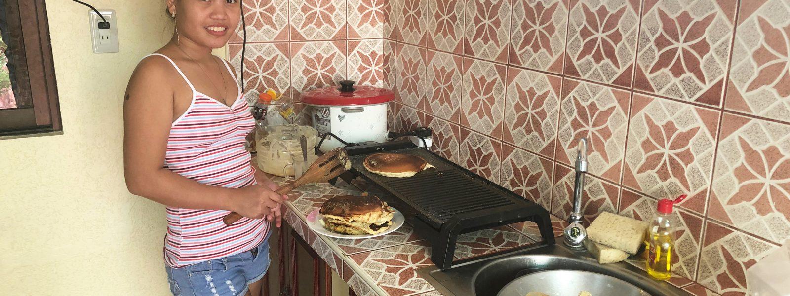 Filipina Wife Burns the Pancakes