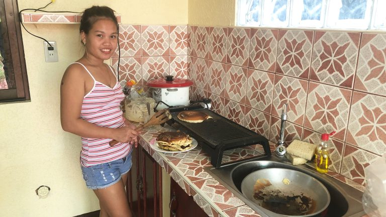 Filipina Wife Burns the Pancakes