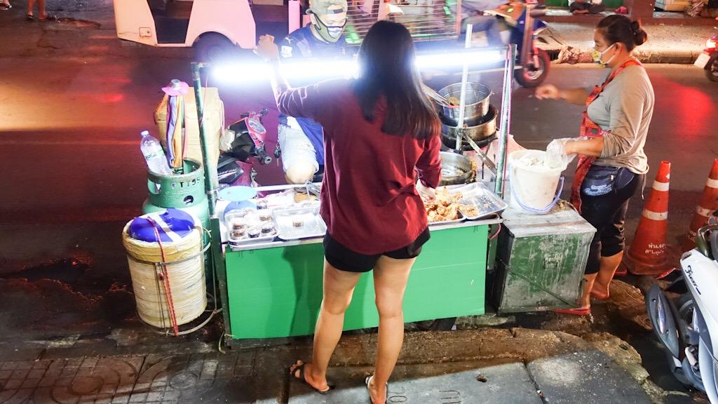 Fried Chicken Cart Bangkok Thailand