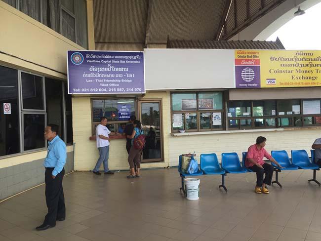 Friendship Bridge Laos Immigration Purchase Bus Ticket Across Mekong River