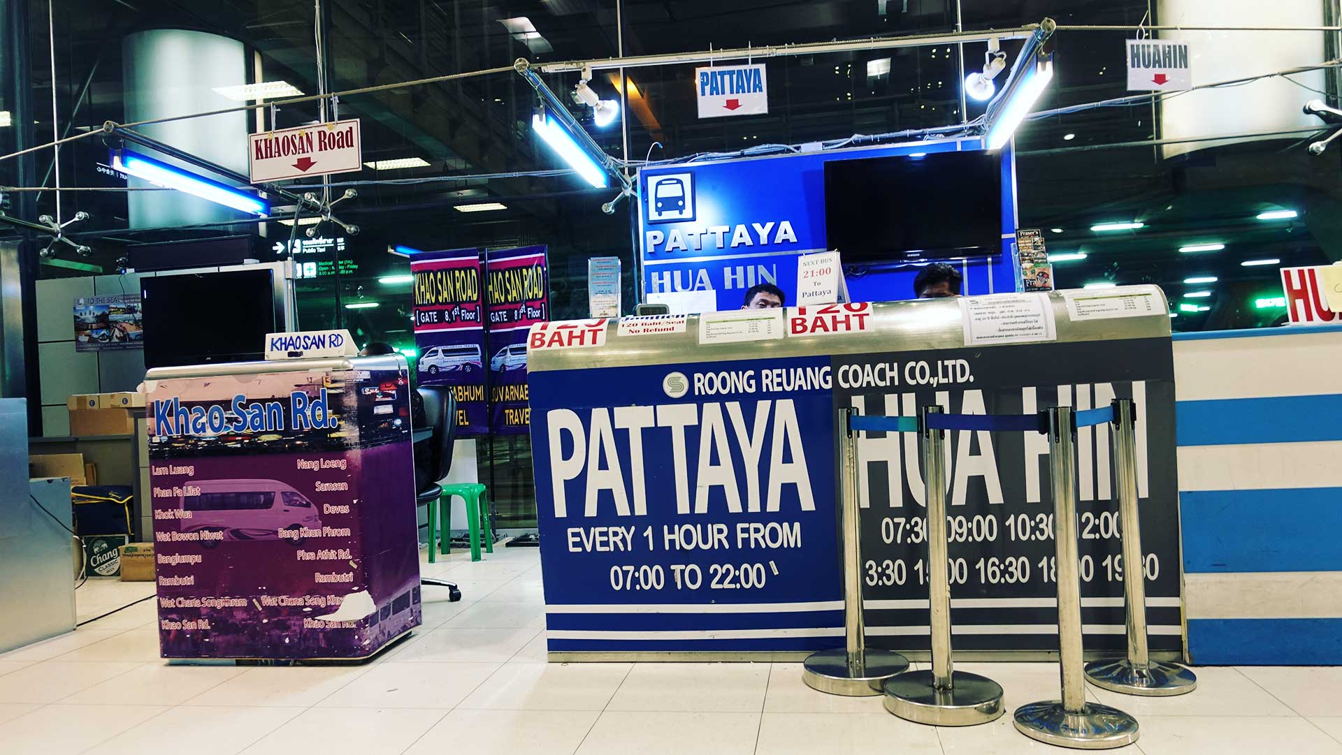 How to Get to Pattaya from Suvarnabhumi Airport for 120 Baht - Thailand