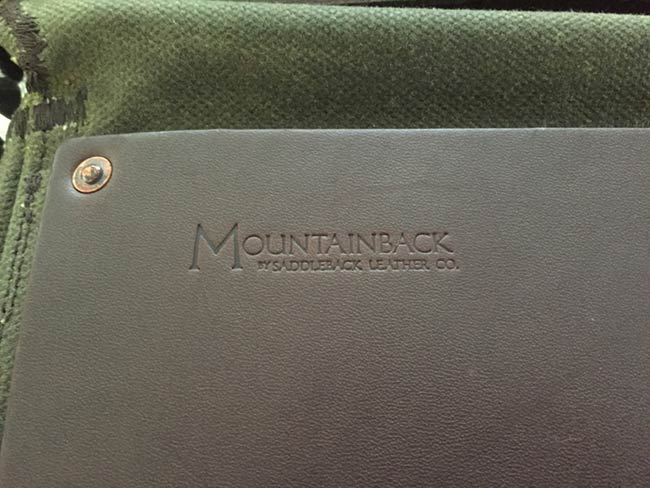 Indiana Gear Bag Saddleback Leather Mountainback Review - Logo