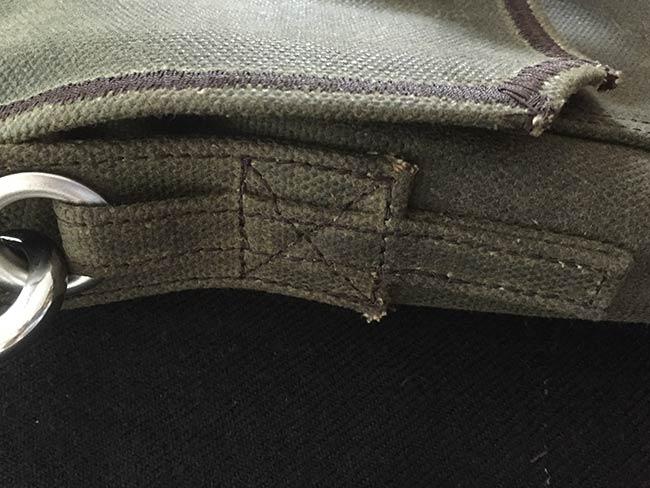 Indiana Gear Bag Saddleback Leather Mountainback Review - Stitching