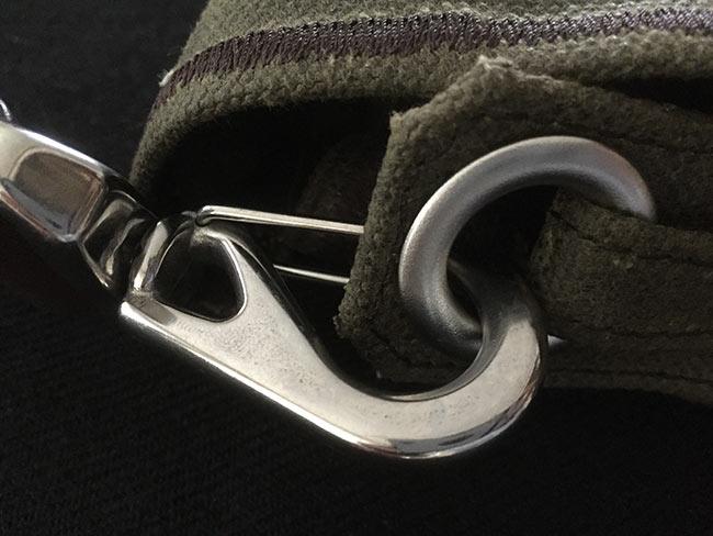 Indiana Gear Bag Saddleback Leather Mountainback Review - Strap Latch