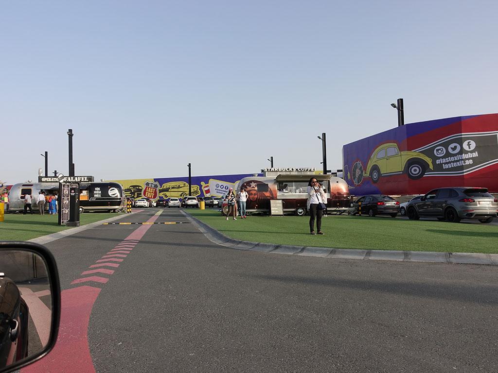 Last Exit Street Food Truck Park Dubai Abu Dhabi E11 Entrance
