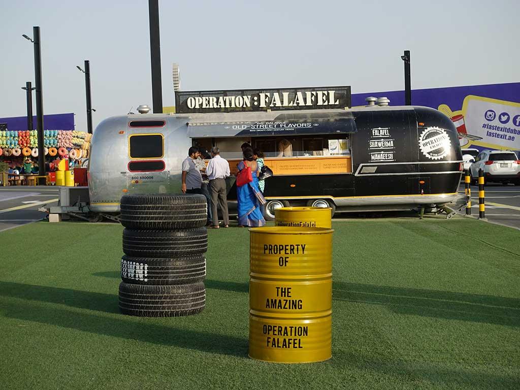 Last Exit Street Food Truck Park Dubai Abu Dhabi Operation Falafel
