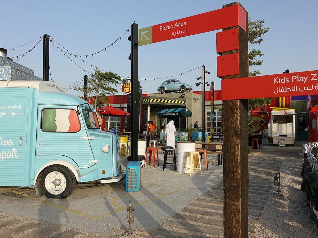 Last Exit Street Food Truck Park Dubai Abu Dhabi Picnic Area