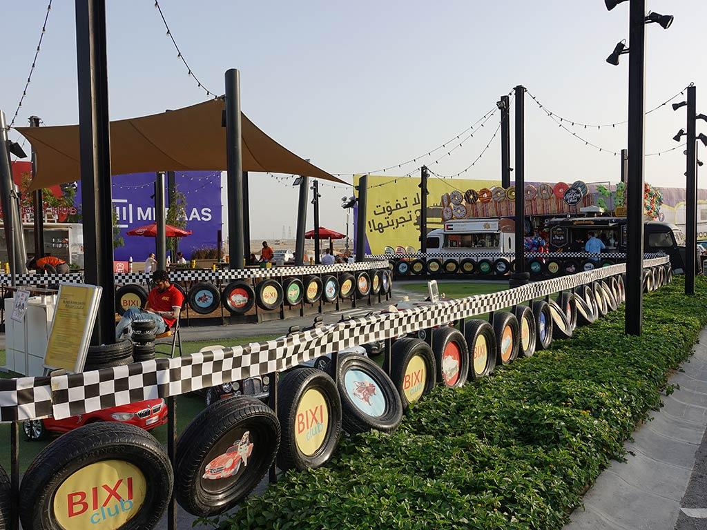 Last Exit Street Food Truck Park Dubai Abu Dhabi Seating