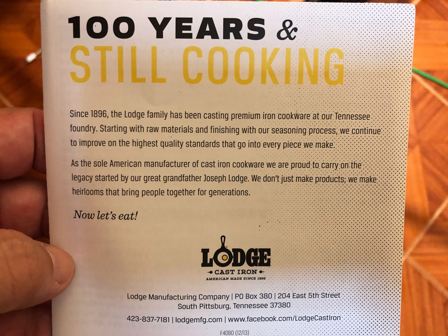Lodge Cast Iron Combo Cooker Instruction Booklet