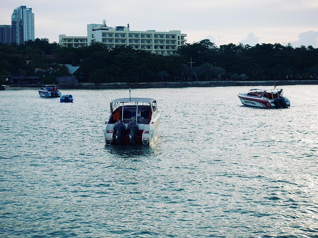 Moored Speedboats - Naklua Fishing Pier - Pattaya, Thailand -Sony RX100 V Photography
