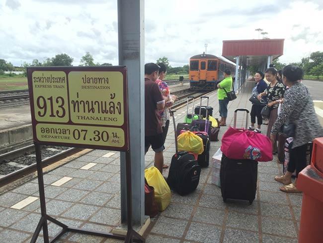 Nong Khai Train Station Train to Thanaleng Laos