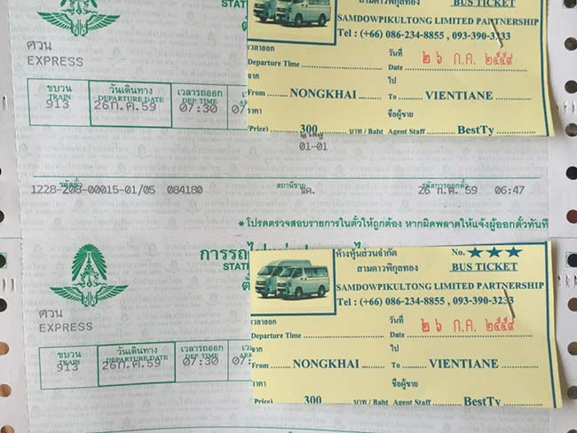 Nong Khai Train to Thanaleng Laos Tickets
