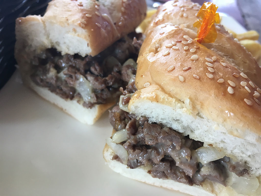 Phillies Sports Grill & Bar - Angeles City, Philippines - Philly Cheesesteak Sandwich with Onions