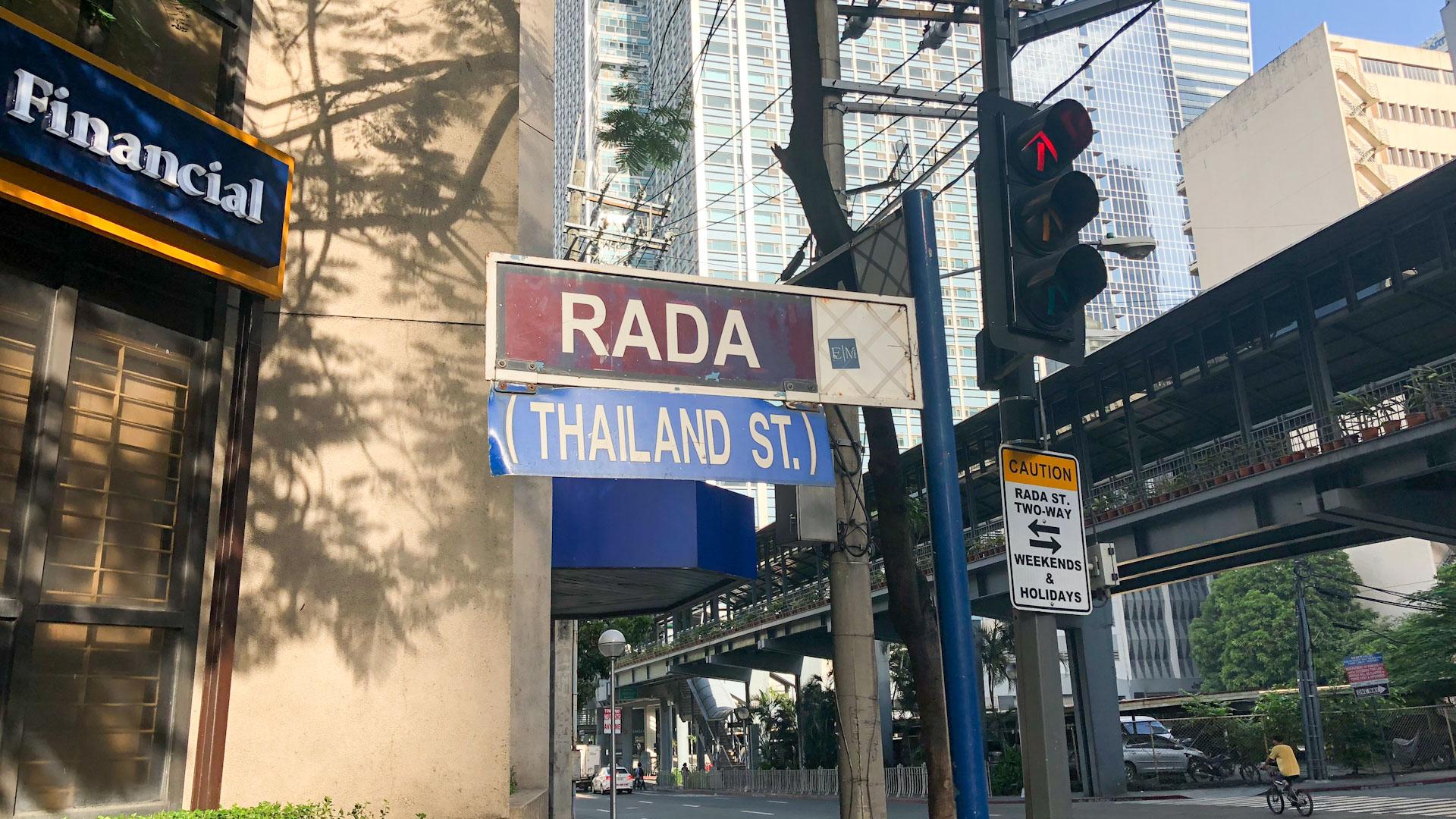 Royal Thai Embassy, Manila, Philippines - Makati - Rada Street (Thailand St.)