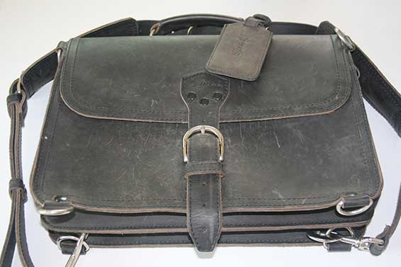 Saddleback Carbon Black Leather Briefcase Best Quality