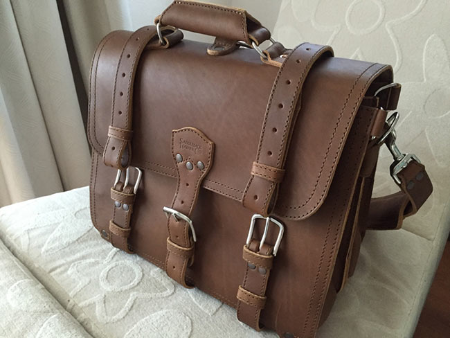 Mark Blackard Saddleback Leather Classic Briefcase Large The Most Interesting Travel Bag Front