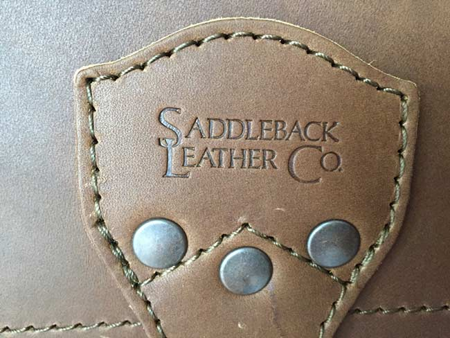 Saddleback Leather Classic Briefcase - Large - Tobacco - The Most Interesting Travel Bag - Logo