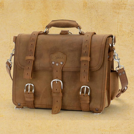 Saddleback Leather Classic Briefcase Tobacco Brown