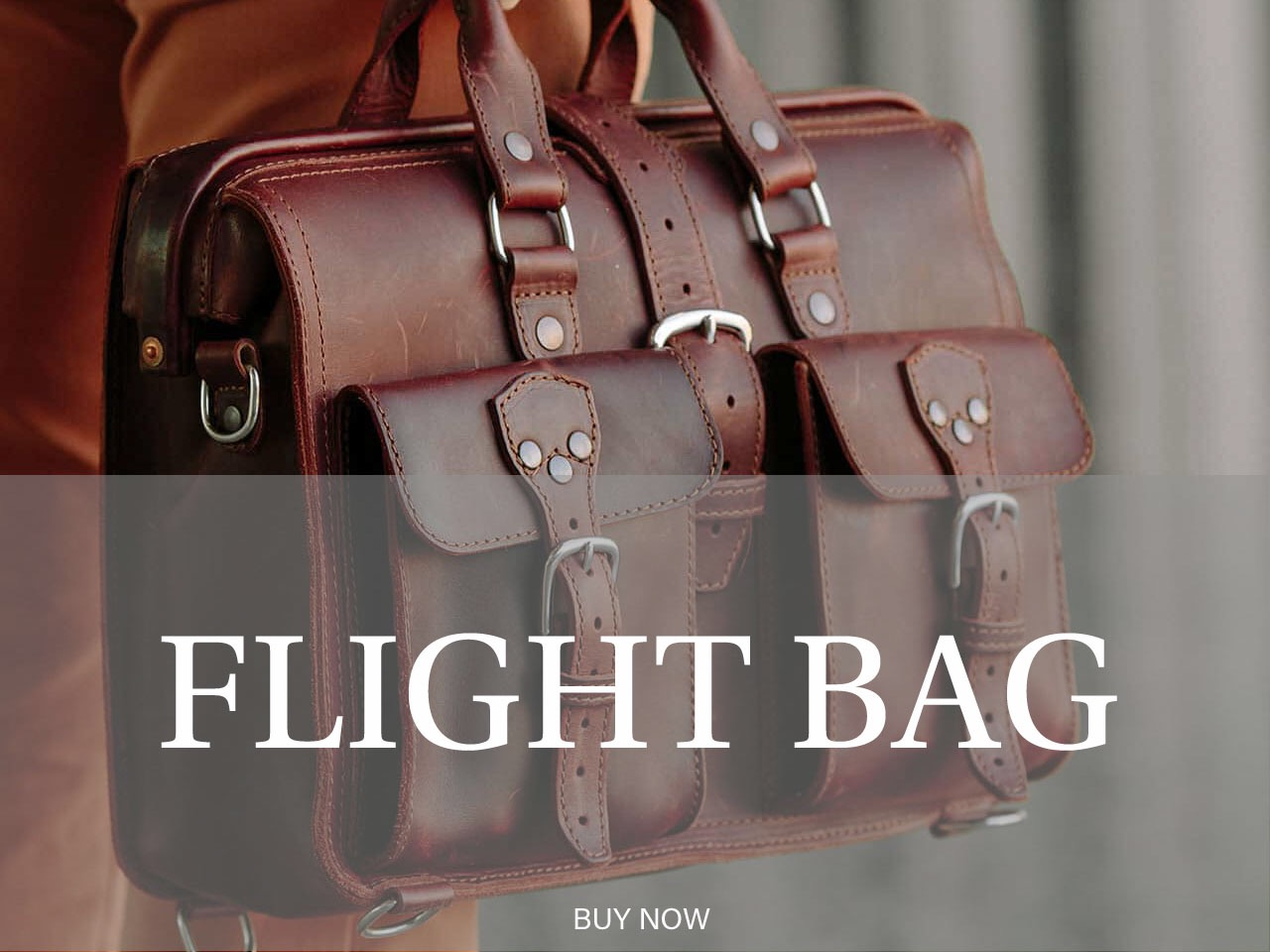 Saddleback Leather Flight Bag