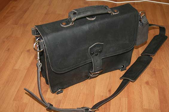 Saddleback Leather Thin Briefcase Rugged and Elegant
