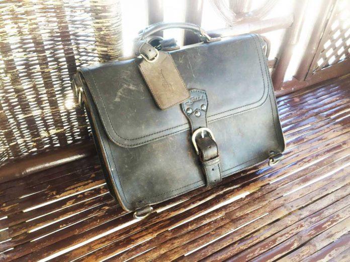 Saddleback Leather Thin Briefcase Travel Photos - Beach Cabana Sunlight - Philippines