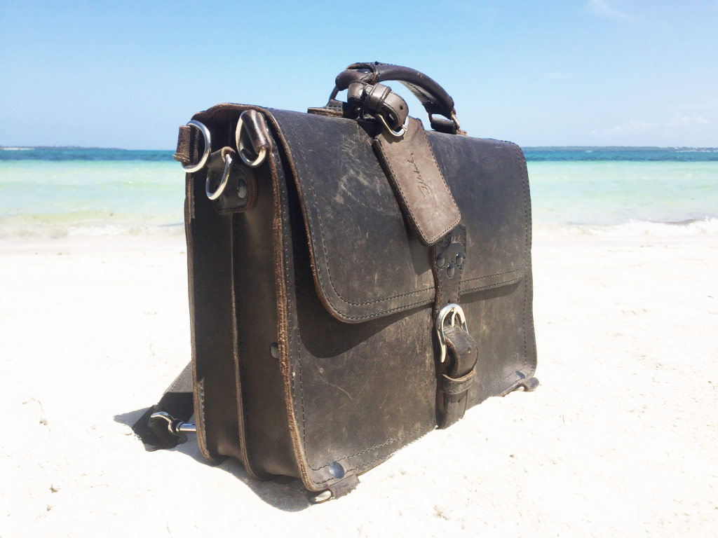 Saddleback Leather Thin Briefcase Travel Photos - Sandy Beach in the Philippines