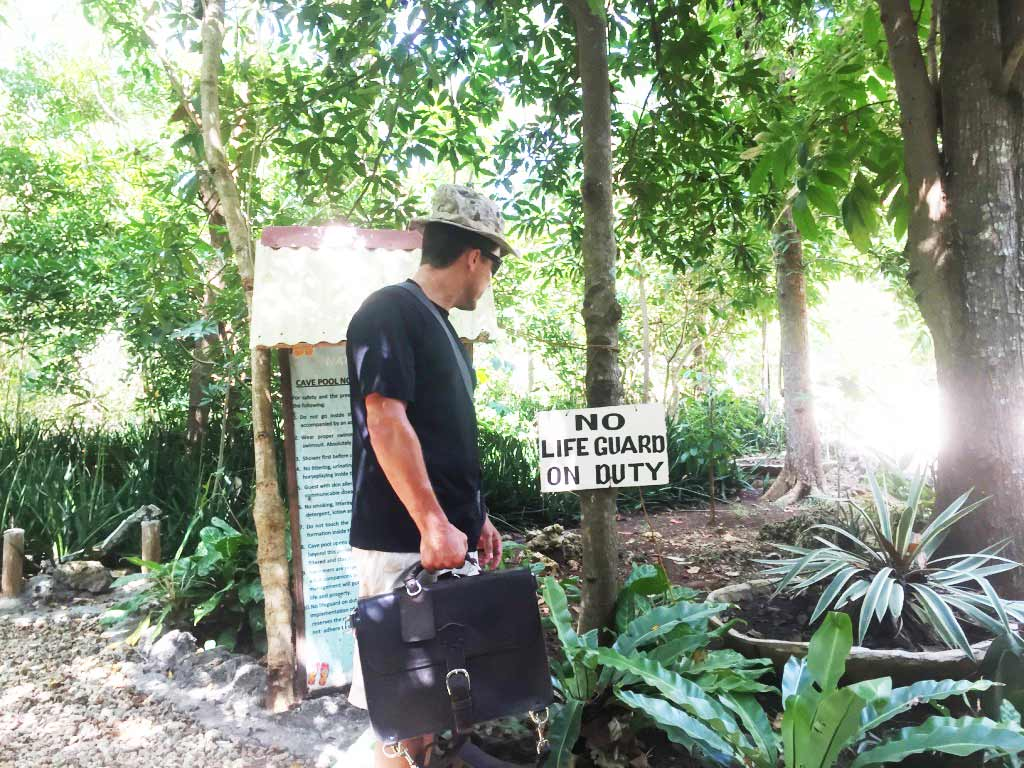 Saddleback Leather Thin Briefcase Travel Photos - No Lifeguard on Duty - Philippines