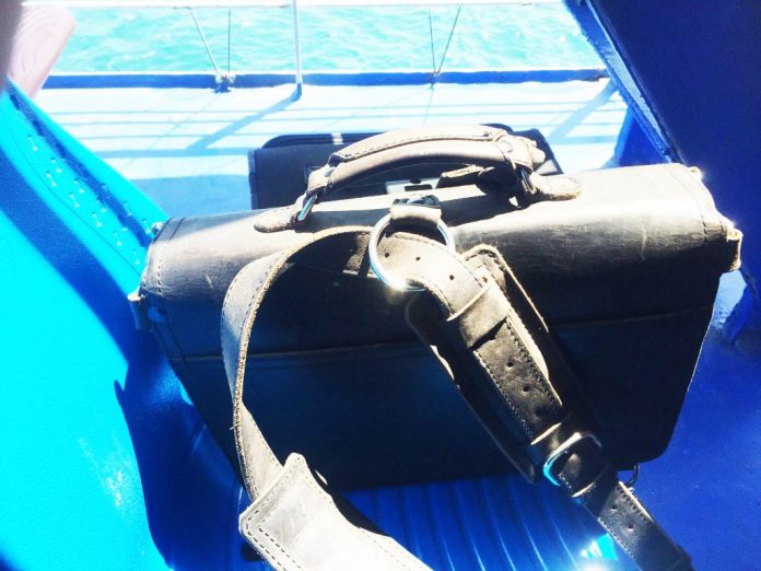 Saddleback Leather Thin Briefcase Travel Photos - Riding on the Ferry in the Philippines