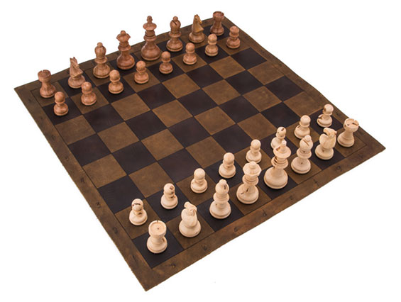 Saddleback Leather Tournament Chess Board