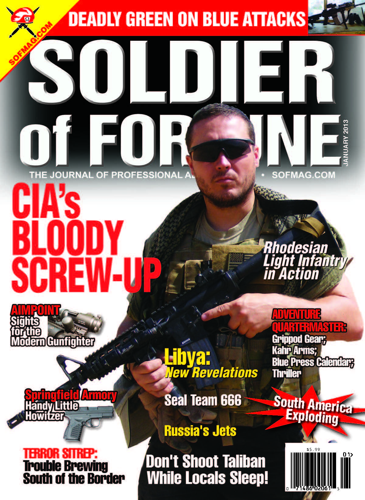 Soldier of Fortune 2013 January Issue Mark Blackard