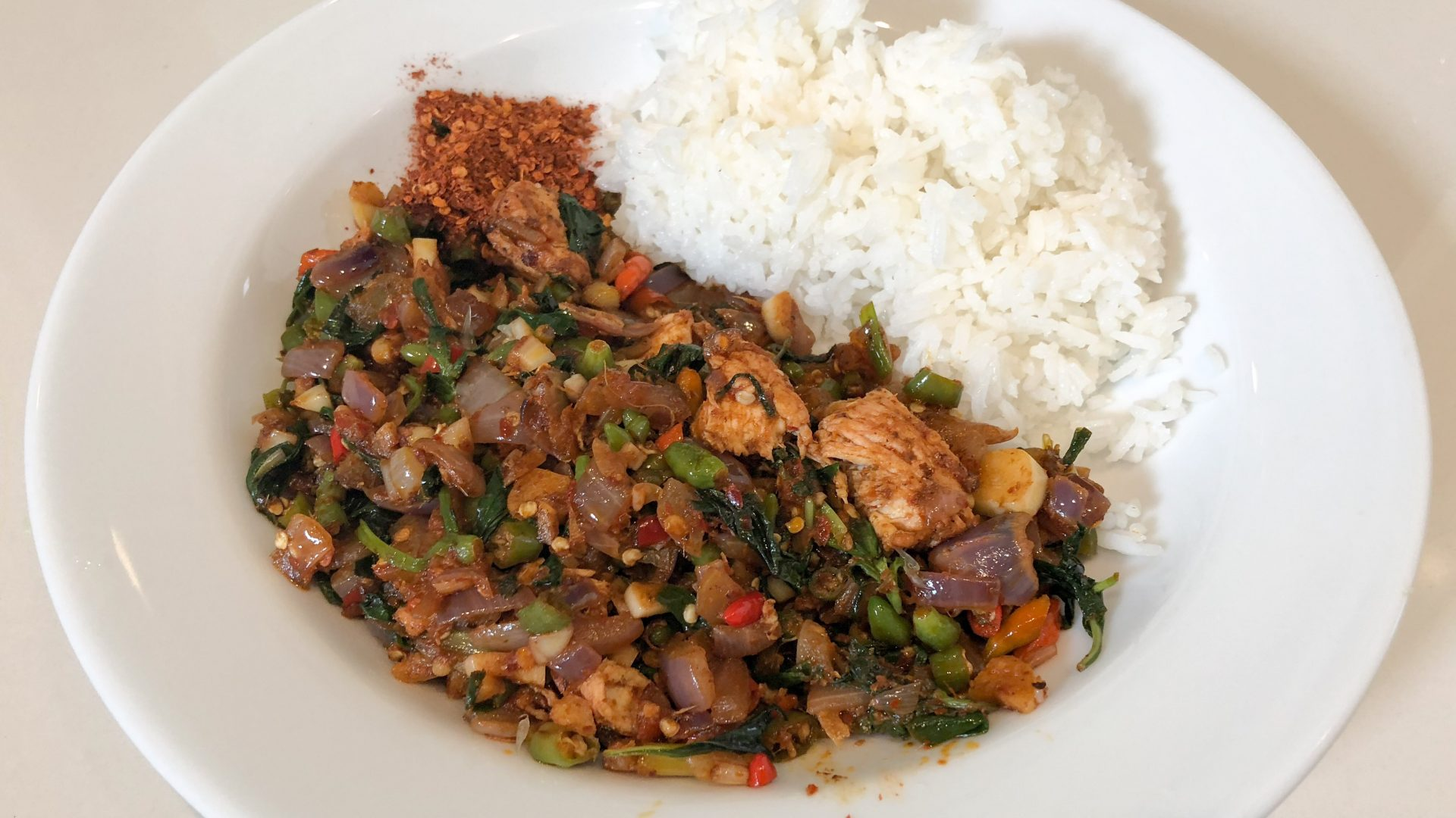 Spicy Basil Chicken - Kapow Gai