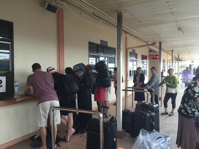 Thanaleng Train Station Immigration Laos Paperwork Fill Out Visa Arrival Card