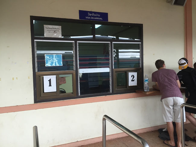 Thanaleng Train Station Immigration Laos Paperwork Visa Arrival Card Window One Two