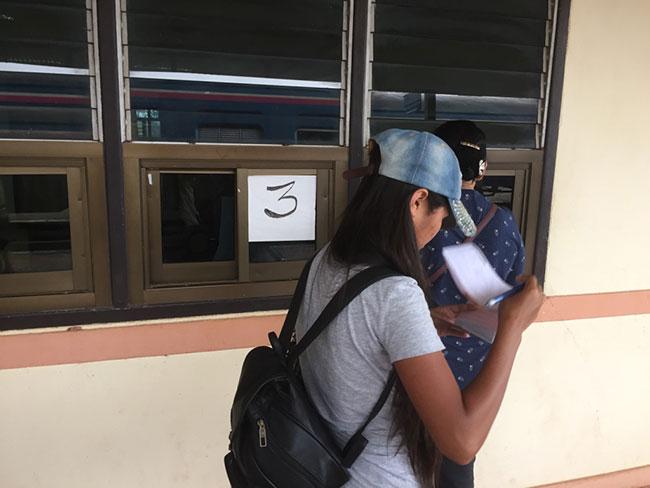 Thanaleng Train Station Immigration Window Three Laos