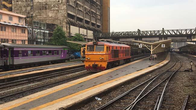 Train Pattaya to Bangkok Thailand Arriving At Bangkok Station